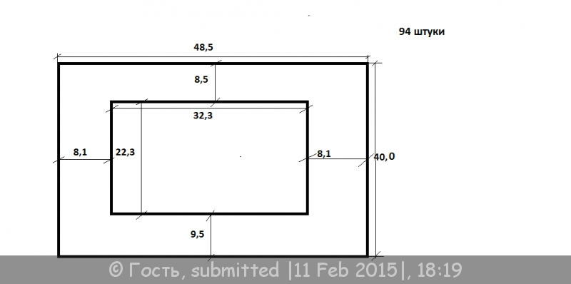 Размеры паспарту к рисунку а3